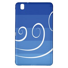 Ventigender Flags Wave Waves Chevron Leaf Blue White Samsung Galaxy Tab Pro 8 4 Hardshell Case by Mariart