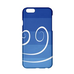 Ventigender Flags Wave Waves Chevron Leaf Blue White Apple Iphone 6/6s Hardshell Case by Mariart