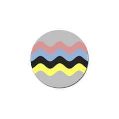 Wave Waves Chevron Sea Beach Rainbow Golf Ball Marker by Mariart
