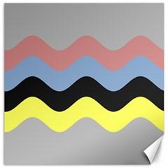 Wave Waves Chevron Sea Beach Rainbow Canvas 12  X 12   by Mariart