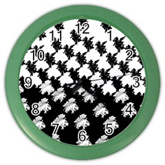 Transforming Escher Tessellations Full Page Dragon Black Animals Color Wall Clocks by Mariart