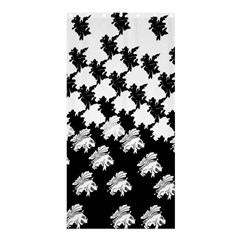Transforming Escher Tessellations Full Page Dragon Black Animals Shower Curtain 36  X 72  (stall)  by Mariart