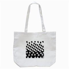 Transforming Escher Tessellations Full Page Dragon Black Animals Tote Bag (white) by Mariart