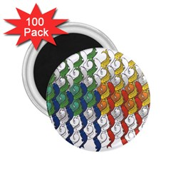 Rainbow Fish 2 25  Magnets (100 Pack)  by Mariart
