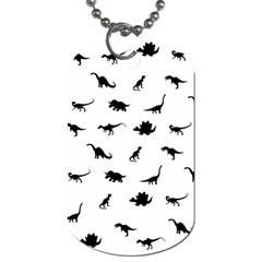 Dinosaurs Pattern Dog Tag (two Sides) by Valentinaart