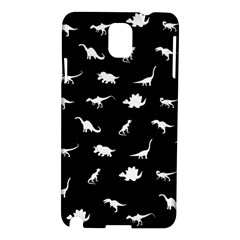 Dinosaurs Pattern Samsung Galaxy Note 3 N9005 Hardshell Case by Valentinaart