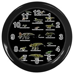 Dinosaurs Names Wall Clocks (black) by Valentinaart