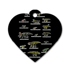 Dinosaurs Names Dog Tag Heart (one Side) by Valentinaart