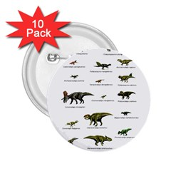 Dinosaurs Names 2 25  Buttons (10 Pack)  by Valentinaart