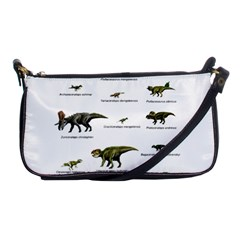Dinosaurs Names Shoulder Clutch Bags by Valentinaart