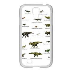 Dinosaurs Names Samsung Galaxy S4 I9500/ I9505 Case (white) by Valentinaart