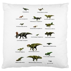 Dinosaurs Names Large Flano Cushion Case (one Side) by Valentinaart