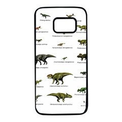 Dinosaurs names Samsung Galaxy S7 Black Seamless Case by Valentinaart