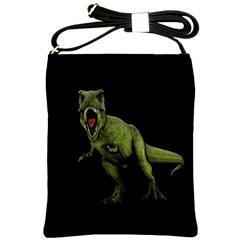 Dinosaurs T Rex Shoulder Sling Bags by Valentinaart