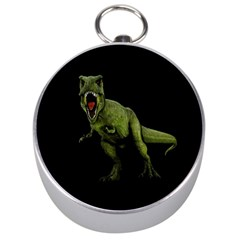 Dinosaurs T Rex Silver Compasses by Valentinaart