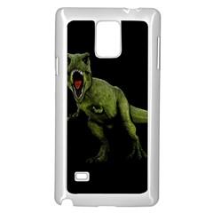 Dinosaurs T Rex Samsung Galaxy Note 4 Case (white) by Valentinaart