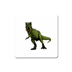Dinosaurs T Rex Square Magnet by Valentinaart