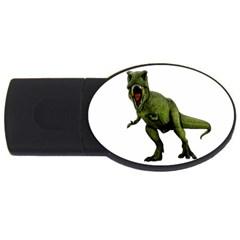 Dinosaurs T Rex Usb Flash Drive Oval (4 Gb) by Valentinaart