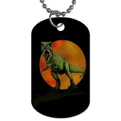 Dinosaurs T Rex Dog Tag (one Side) by Valentinaart