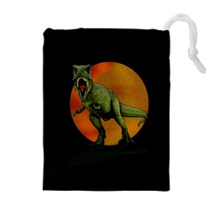 Dinosaurs T Rex Drawstring Pouches (extra Large) by Valentinaart