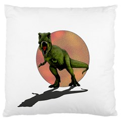 Dinosaurs T Rex Standard Flano Cushion Case (one Side) by Valentinaart