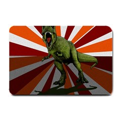 Dinosaurs T Rex Small Doormat  by Valentinaart