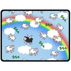 Sweet Dreams  Double Sided Fleece Blanket (large)  by Valentinaart
