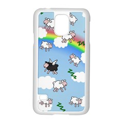 Sweet Dreams  Samsung Galaxy S5 Case (white) by Valentinaart