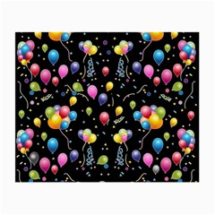 Balloons   Small Glasses Cloth (2 Side) by Valentinaart