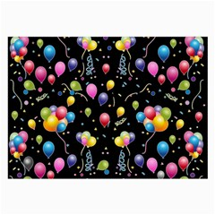 Balloons   Large Glasses Cloth (2 Side) by Valentinaart