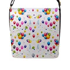 Balloons   Flap Messenger Bag (l)  by Valentinaart