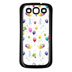 Balloons   Samsung Galaxy S3 Back Case (black) by Valentinaart
