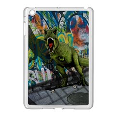 Urban T Rex Apple Ipad Mini Case (white) by Valentinaart