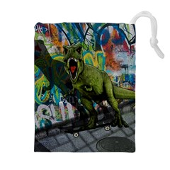 Urban T Rex Drawstring Pouches (extra Large) by Valentinaart