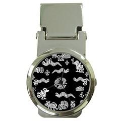 Aztecs Pattern Money Clip Watches by Valentinaart
