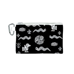 Aztecs Pattern Canvas Cosmetic Bag (s) by Valentinaart