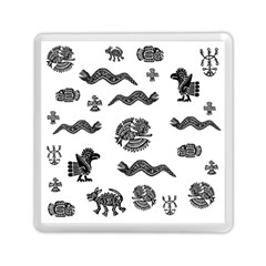 Aztecs Pattern Memory Card Reader (square)  by Valentinaart