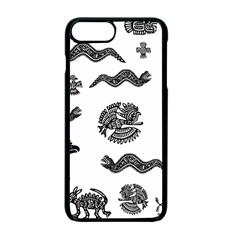 Aztecs Pattern Apple Iphone 7 Plus Seamless Case (black) by Valentinaart