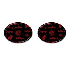 Aztecs Pattern Cufflinks (oval) by Valentinaart