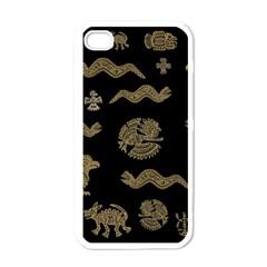 Aztecs Pattern Apple Iphone 4 Case (white) by Valentinaart