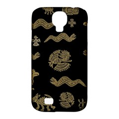 Aztecs Pattern Samsung Galaxy S4 Classic Hardshell Case (pc+silicone) by Valentinaart