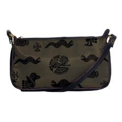 Aztecs Pattern Shoulder Clutch Bags by Valentinaart