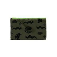 Aztecs Pattern Cosmetic Bag (xs) by Valentinaart