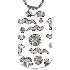 Aztecs Pattern Dog Tag (two Sides) by Valentinaart