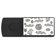 Aztecs Pattern Usb Flash Drive Rectangular (4 Gb) by Valentinaart