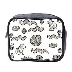 Aztecs Pattern Mini Toiletries Bag 2 Side by Valentinaart