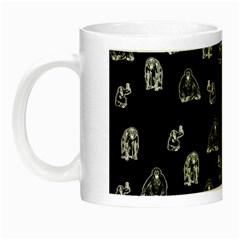 Chimpanzee Night Luminous Mugs by Valentinaart