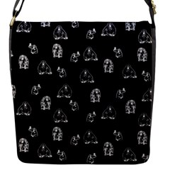 Chimpanzee Flap Messenger Bag (s) by Valentinaart