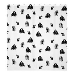 Chimpanzee Shower Curtain 66  X 72  (large)  by Valentinaart