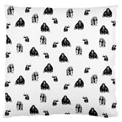 Chimpanzee Large Flano Cushion Case (one Side) by Valentinaart